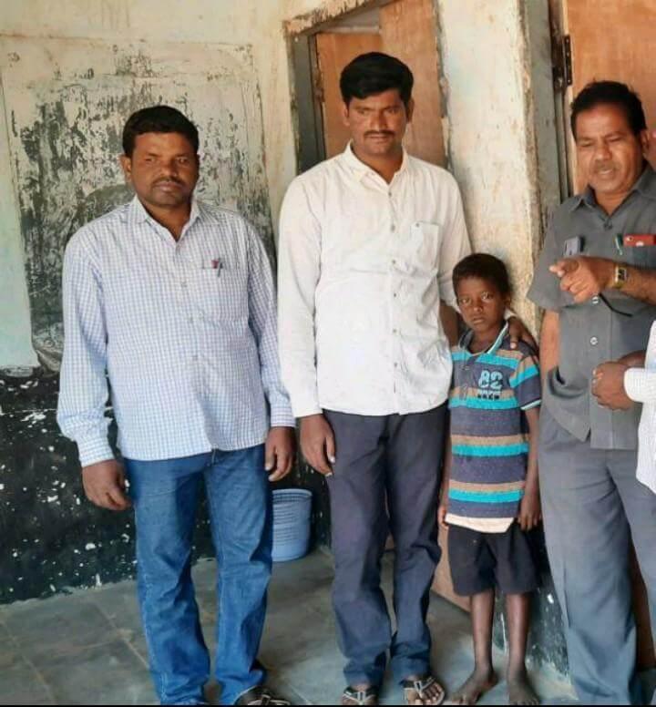 Koneru organisation joining to school poor child labour.