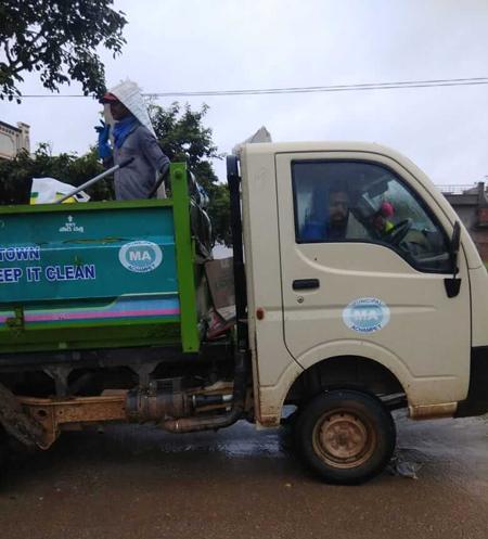 Achampet dumping yard vehicles