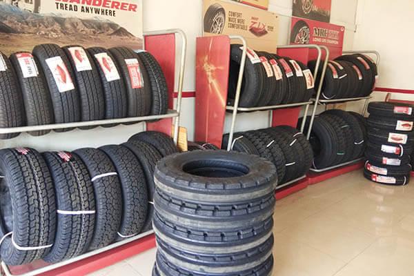 MRF Car four wheeler Tyre Showroom Achampet