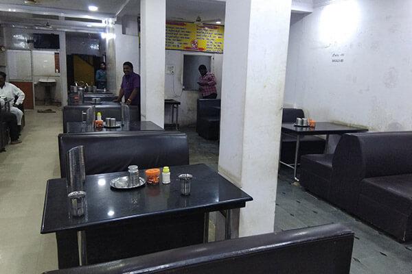National family restaurant veg-and-noneveg interior Achampet