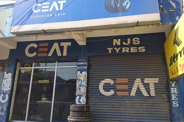 Ceat tyres showroom in achampet